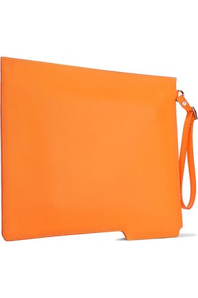 HELMUT LANG Folder leather clutch