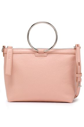 KARA Textured-leather shoulder bag