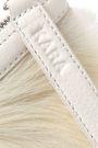 KARA Textured-leather and calf hair clutch