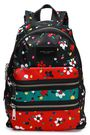 MARC JACOBS Leather-trimmed printed canvas backpack