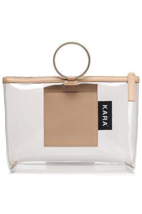 KARA Pebbled-leather and PVC tote