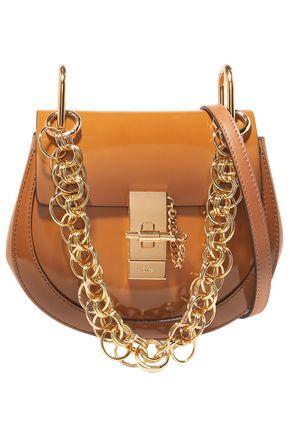 CHLOÉ Drew Bijou mini glossed-leather shoulder bag