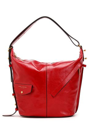 MARC JACOBS Glossed-leather shoulder bag