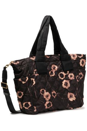 MARC JACOBS Quilted floral-print shell tote