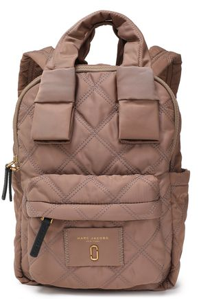 MARC JACOBS Leather-trimmed quilted shell backpack