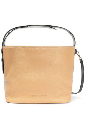 MARC JACOBS Two-tone pebbled-leather shoulder bag