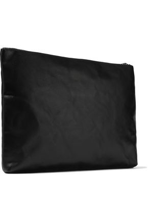ANN DEMEULEMEESTER Textured-leather pouch