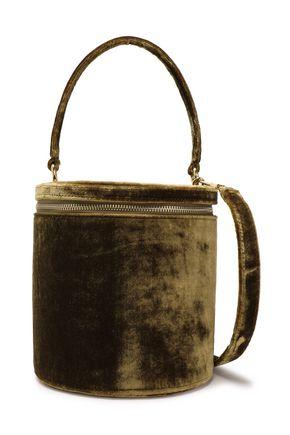 STAUD Vitti velvet bucket bag