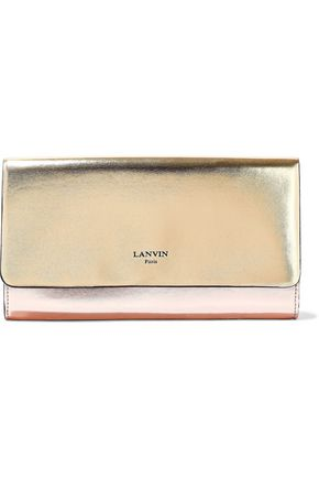 d6fcda0a4e31 LANVIN Color-block metallic faux leather wallet