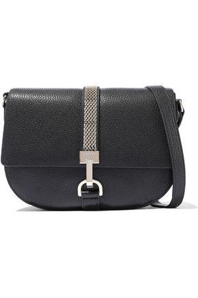 LANVIN Lien chain-trimmed textured-leather shoulder bag