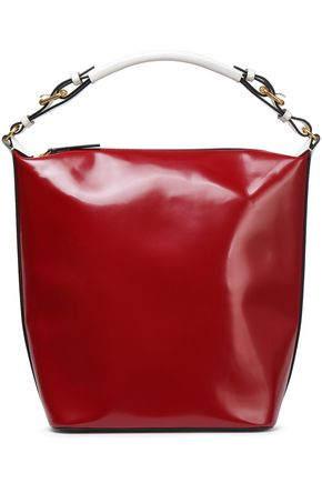 MARNI Glossed-leather tote