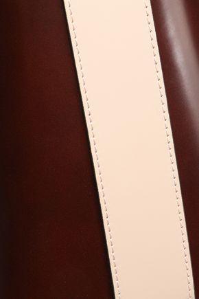 MARNI Glossed-leather tote
