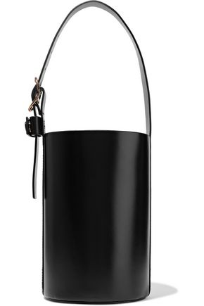 TRADEMARK Small leather bucket bag