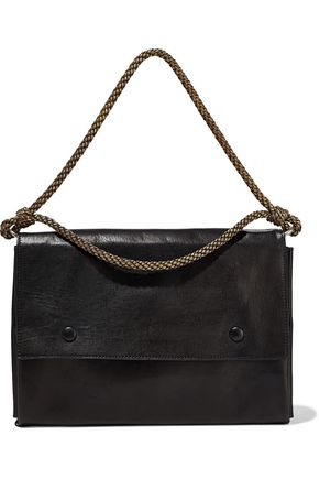 ANN DEMEULEMEESTER Braid-trimmed leather shoulder bag