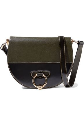 J.W.ANDERSON Latch two-tone smooth and textured-leather shoulder bag