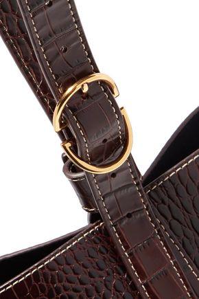 TRADEMARK Small croc-effect leather bucket bag