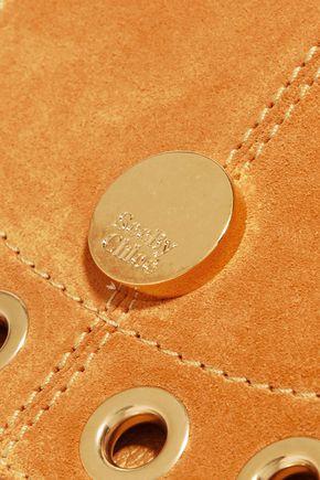 SEE BY CHLOÉ Eyelet-embellished suede shoulder bag