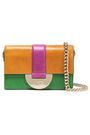 DIANE VON FURSTENBERG Color-block leather shoulder bag