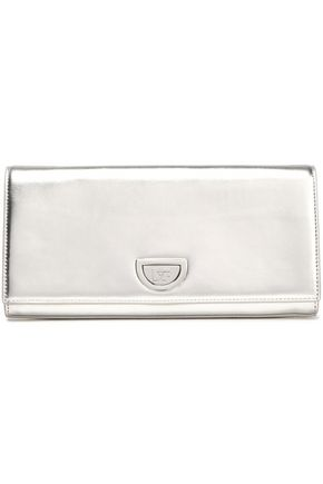 DIANE VON FURSTENBERG Metallic leather clutch