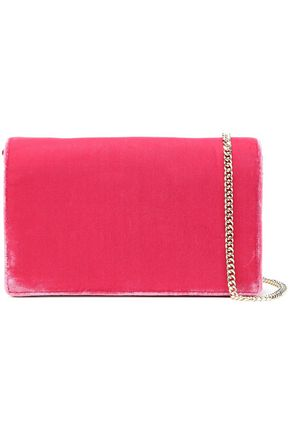DIANE VON FURSTENBERG Color-block velvet shoulder bag