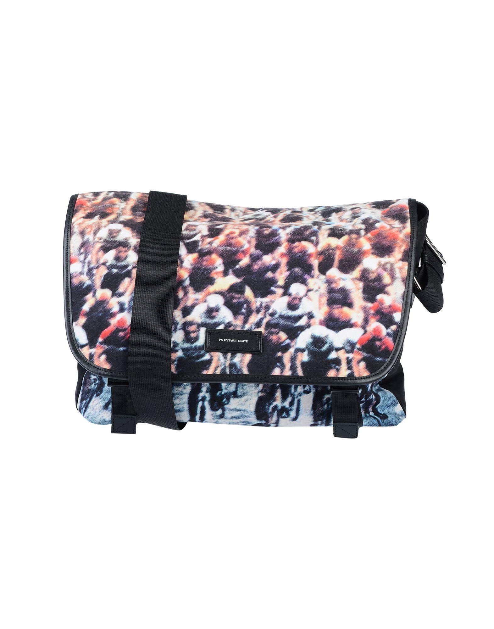 《期間限定セール開催中!》PS PAUL SMITH メンズ メッセンジャーバッグ ブラック ポリエステル 100% / 牛革