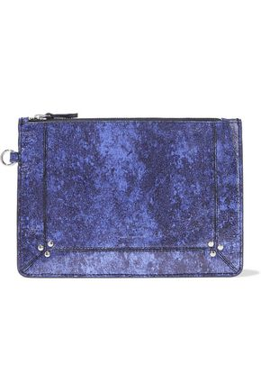 JÉRÔME DREYFUSS Coated leather clutch