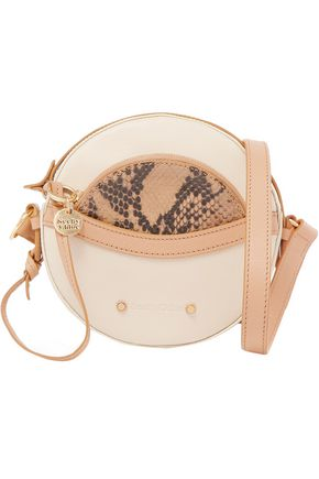 SEE BY CHLOÉ Rosy pebbled and snake-effect leather shoulder bag
