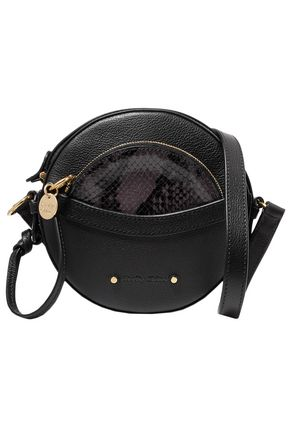 SEE BY CHLOÉ Rosy textured and snake-effect leather shoulder bag