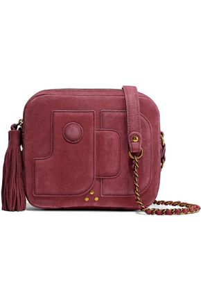 JÉRÔME DREYFUSS Embellished suede shoulder bag