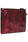 JÉRÔME DREYFUSS Metallic cracked-leather pouch