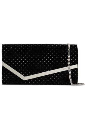 JIMMY CHOO Embellished velvet clutch