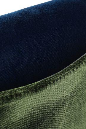DIANE VON FURSTENBERG Studded two-tone velvet shoulder bag