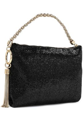 JIMMY CHOO Callie embellished beaded clutch