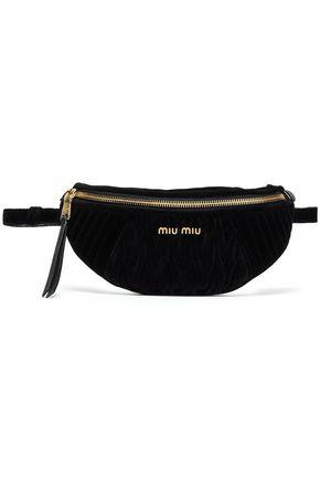 MIU MIU Miu Rider quilted velvet belt bag