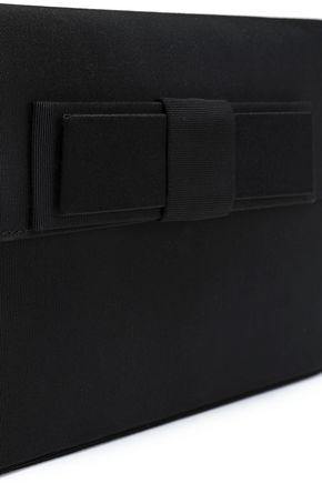 LANVIN Bow-detailed woven shoulder bag