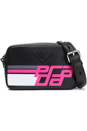 PRADA Racing Logo printed leather shoulder bag