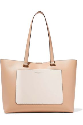 DONNA KARAN Karla two-tone leather tote