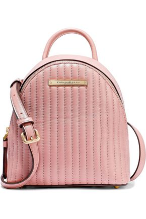 DONNA KARAN Mini convertible quilted leather backpack