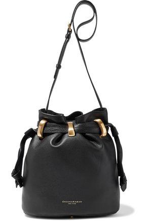 DONNA KARAN Virginia pebbled-leather bucket bag