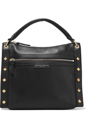 DONNA KARAN Jane studded pebbled-leather shoulder bag