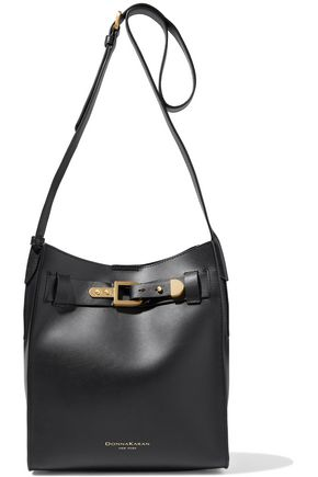 DONNA KARAN Columbus buckle-detailed leather bucket bag