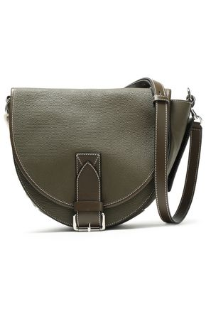 JW ANDERSON Bike lace-up smooth and textured-leather shoulder bag