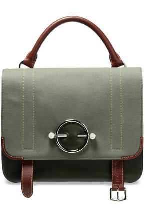 J.W.ANDERSON Twill-paneled leather shoulder bag