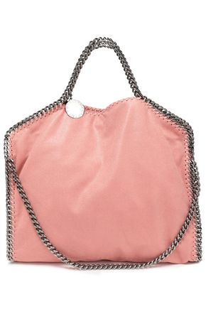 STELLA McCARTNEY Chain-trimmed faux suede shoulder bag