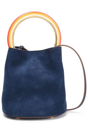 MARNI Pannier mini suede bucket bag