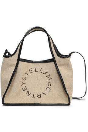 STELLA McCARTNEY Eyelet-embellished canvas tote