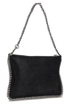 STELLA McCARTNEY Falabella faux brushed-leather clutch