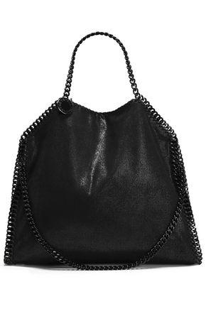 STELLA McCARTNEY Chain-trimmed brushed faux suede shoulder bag
