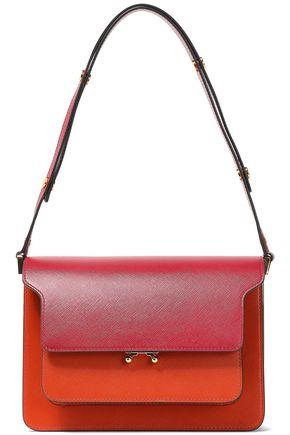 MARNI Trunk color-block textured-leather shoulder bag