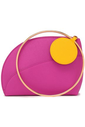 ROKSANDA Pebbled-leather clutch